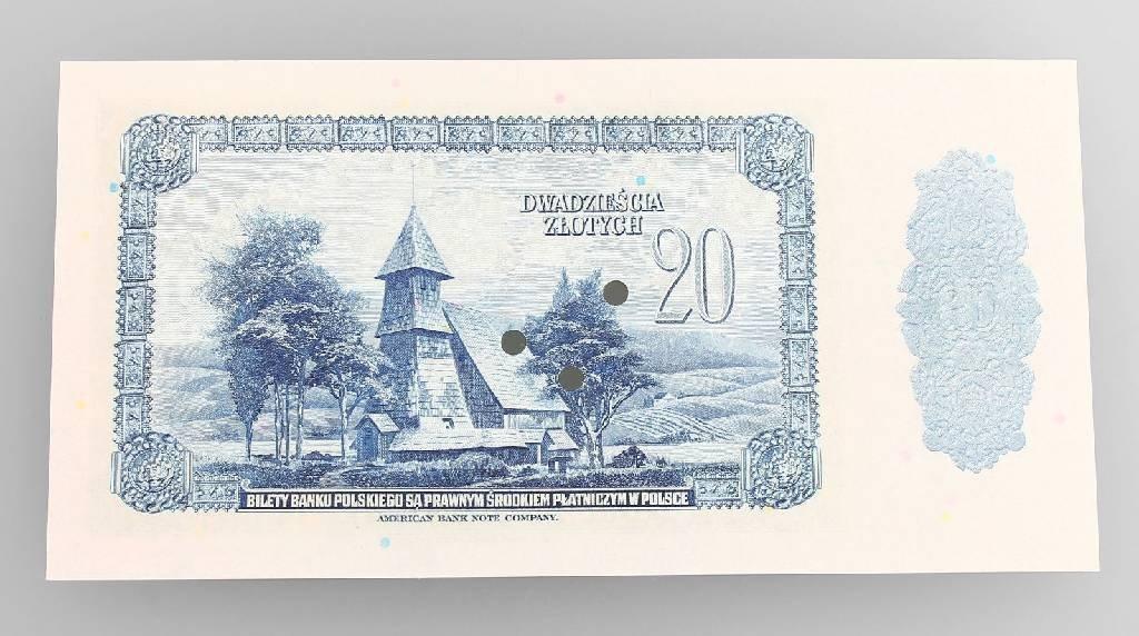 Banknote, 20 Zlotych, Poland, 1939, Warschau - 2