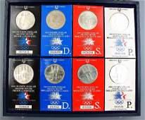 silver coins 1 Dollar USA 1983 1984
