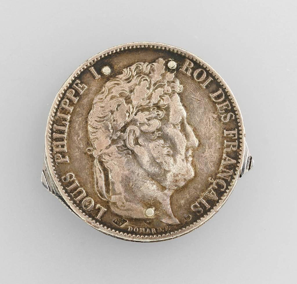 Pocket knife in silver coin, 5 Francs