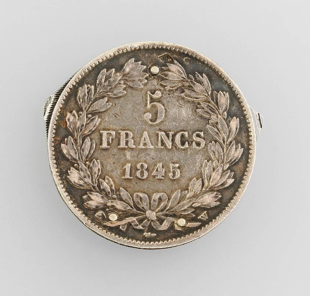 Pocket knife in silver coin, 5 Francs - 2