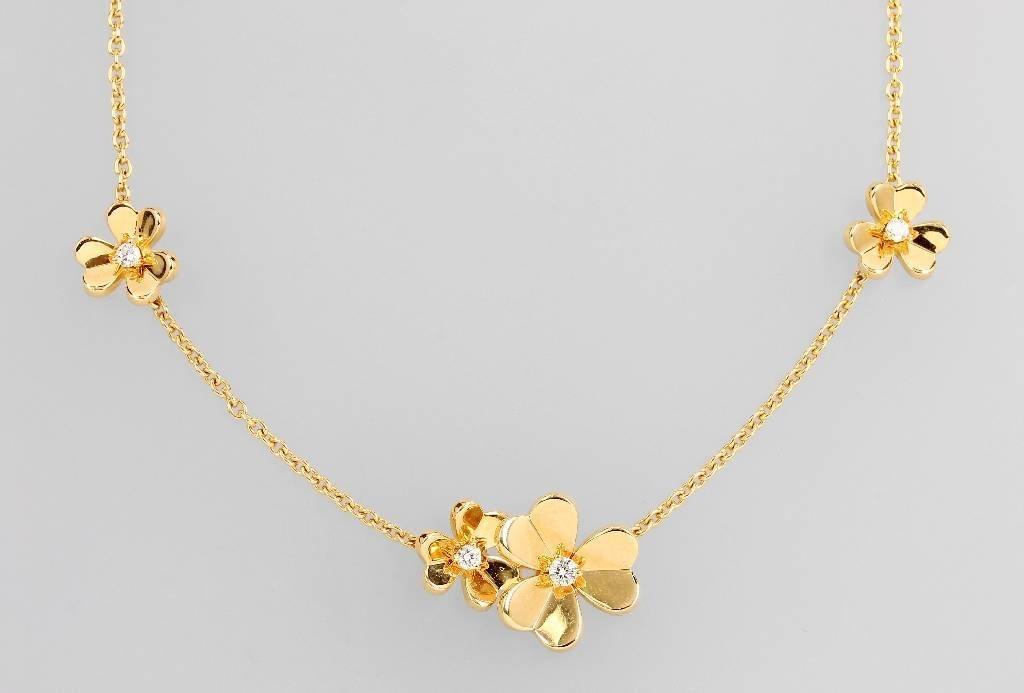 18 kt gold VAN CLEEF & ARPELS necklace with brilliants