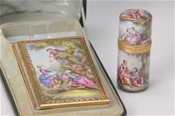 Perfumebottle and Carnet de Bal