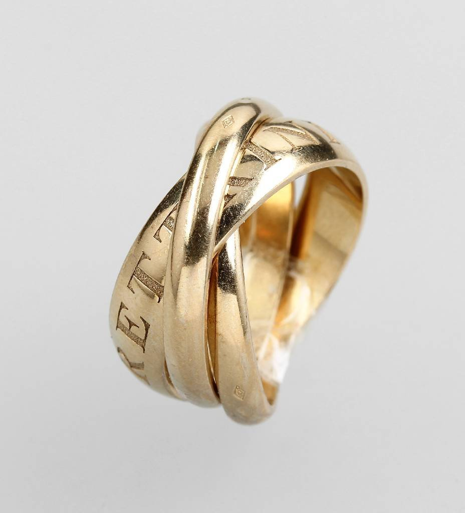 18 kt gold ring by CARTIER, 'Trinity'