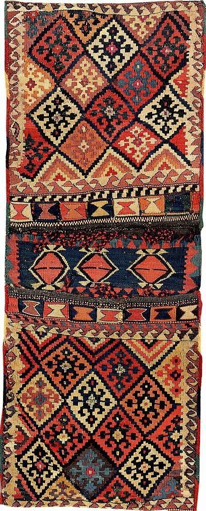 Metal-Thread Shahsavan-Kilim 'Bag',