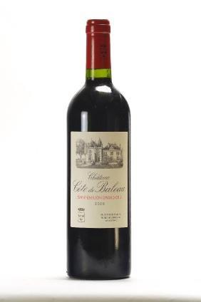 2 bottles of 2008 Chateau Cote de Baleau, Saint