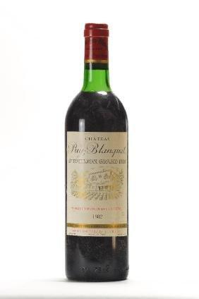 2 bottles of 1982 Chateau Puy-Blanquet, Saint Emilion