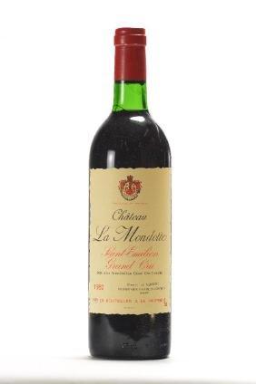 2 bottles of 1982 Chateau La Mondotte, Saint -Emilion