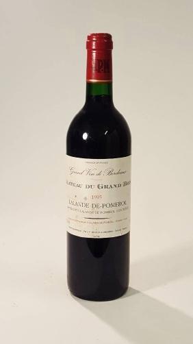 12 bottles of 1995 Chateau du Grand Bois, Lalande de