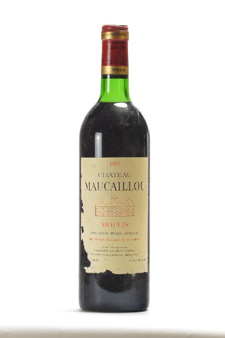 2 bottles of 1983 Chateau Maucaillou, Moulis, Domaine