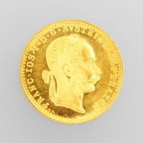Gold coin, 1 ducat, Austria/Hungary, 1915