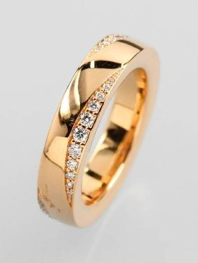 NOOR 18 kt gold ring with brilliants