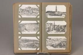 album with postcards