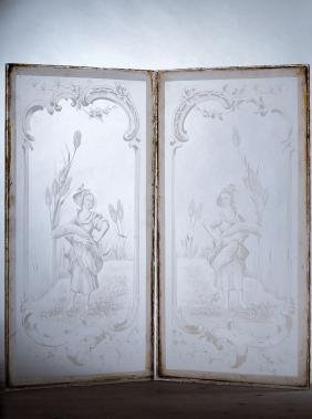 decorative panes of glass