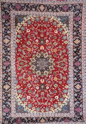 'Part-Silk' Isfahan Carpet,