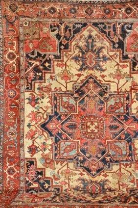 White Grounded Heriz Carpet,