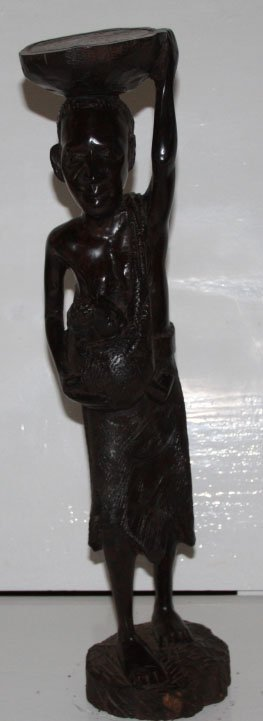 African Woman Wood Carving!!!