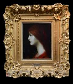 A Red Haired Beauty  Jean-Jacques Henner   French 1829