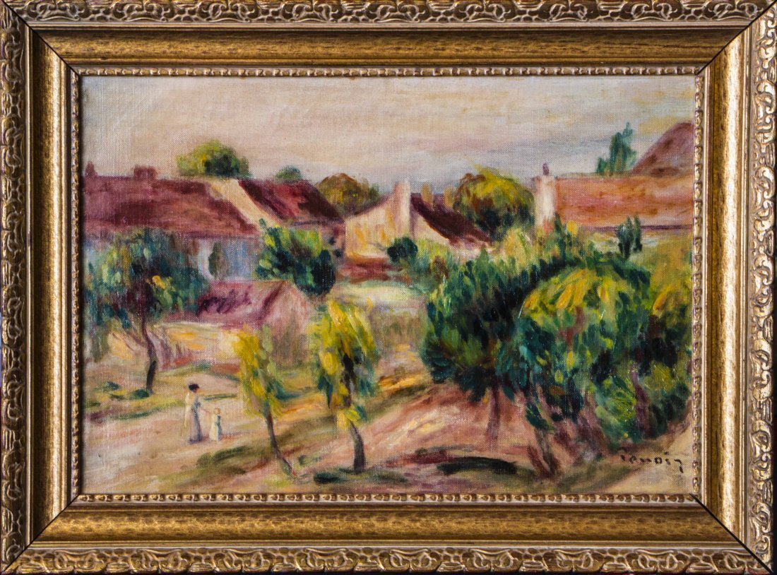 "Pierre_Auguste Renoir.1841-1919 .""Landscape with Girl"""
