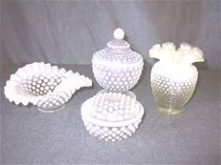 Lot Fenton Hobnail Opalescent Glassware