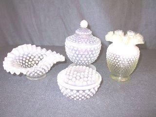 1: Lot Fenton Hobnail Opalescent Glassware