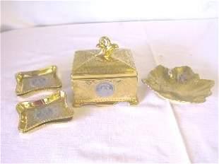 6 pc. Czechoslovakia Victoria Gold