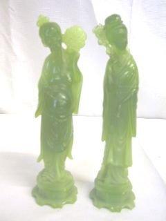 6: Pr. Green Oriental Figurines