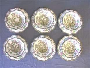 12 pc. Coalport Berry Bowls & Dessert Plates