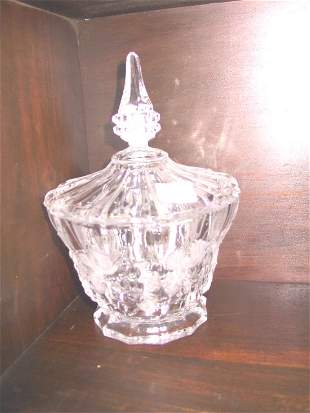 Lidded Glass Candy Dish