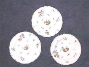 3 German Shallow Portrait Bowls