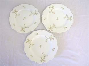 3 English Floral Plates