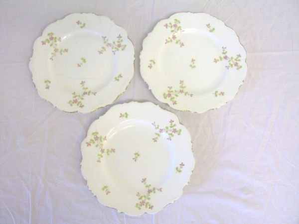 22: 3 English Floral Plates