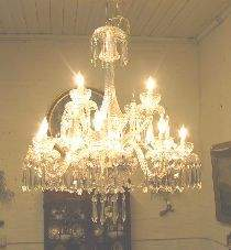 153: 2 Tiered 12 Arm Waterford Chandelier