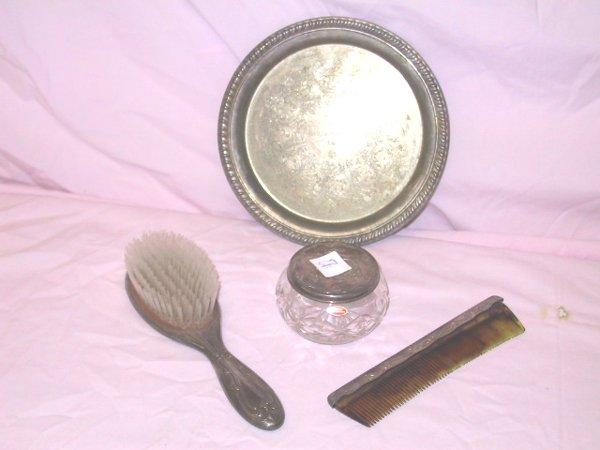 7: 4 pc. Silver Vanity Set, Gorham