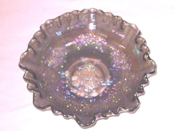 16: Carnival Glass Windmill Bowl Northwood