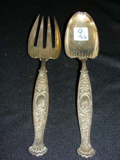 9: x2 Sterling Serving pieces