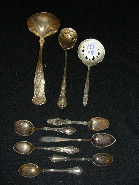 10: x9 Assorted Sterling