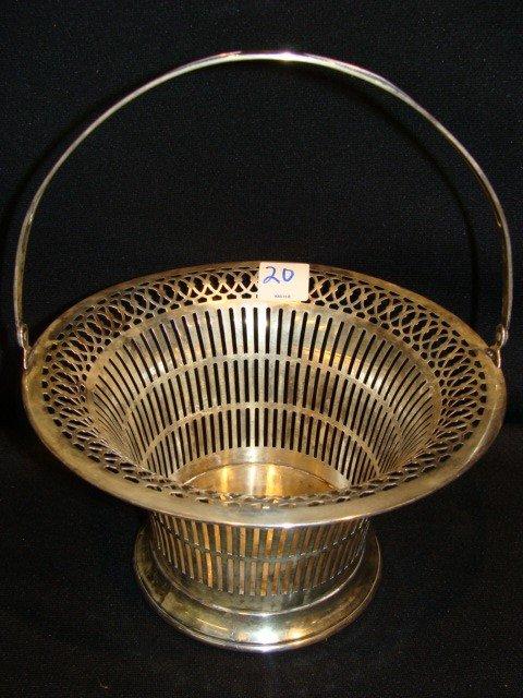 20: Sterling basket circa 1913 engraved on