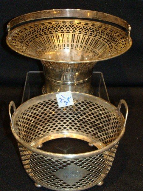 21: Sterling 2pc Tiffany & Co. basket (dented bottom)