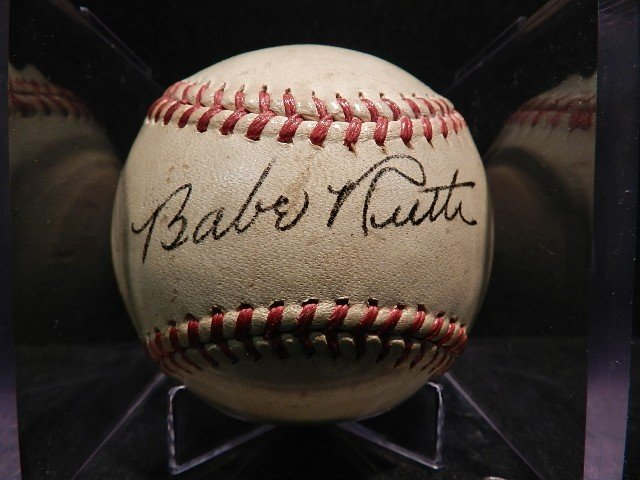 179: Babe Ruth Signed Baseball official American League