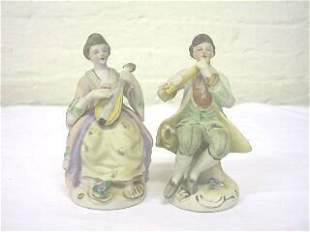 Pr. Seated Occupied Japan Musical Figurines.