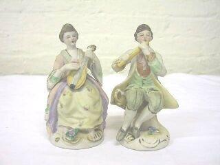 8: Pr. Seated Occupied Japan Musical Figurines.