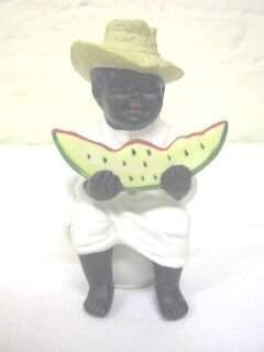 African American Seated Occupied Japan Figurine, Wa