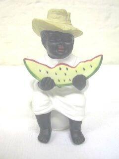10: African American Seated Occupied Japan Figurine, Wa