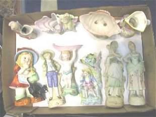 Lot of 10 Japanese Figurines.