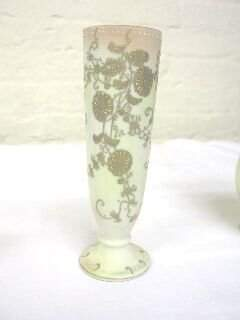 Occupied Japan Bud Vase w. Moriage