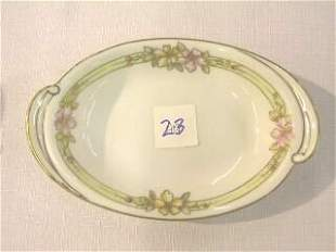 Small Nippon Floral Oblong Dish