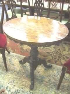 20th C. Roccoco Style Tilt Top Table.