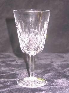 Set of 12 Crystal Waterford Lismore Goblets.