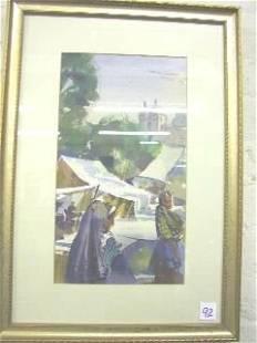 Mahoney Watercolor Mexican Market