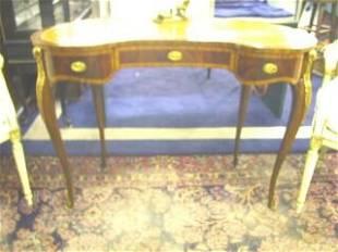 Maitland Smith French Mahogany Kidney Desk.